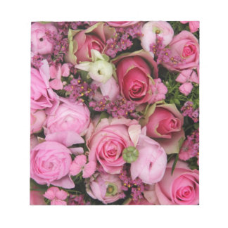 pink rose bouquet by Therosegarden Note Pad