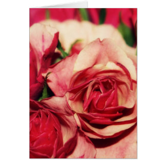 Pink Rose Bouquet Fine Art Photograph Card