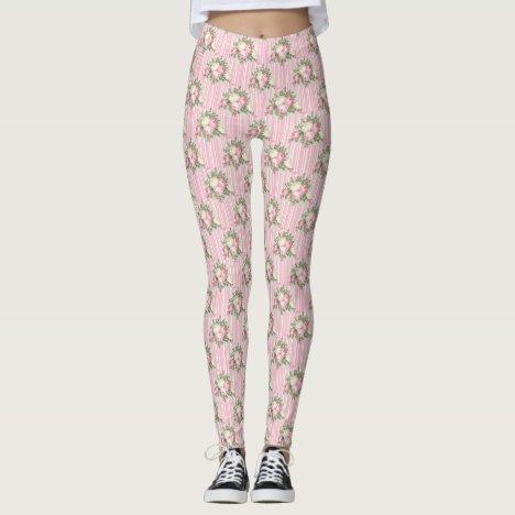 Pink Rose Bouquet Leggings
