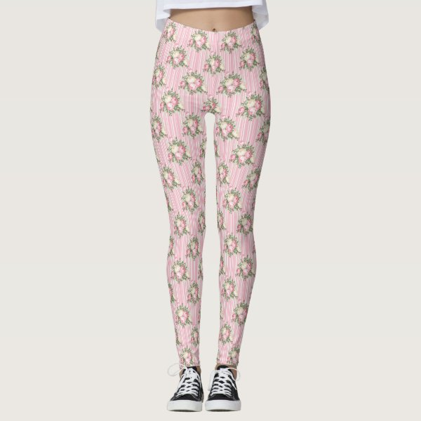 Pink Rose Bouquet Leggings
