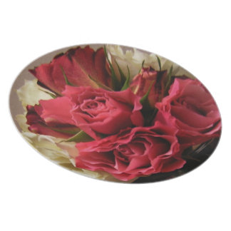 Pink Rose Bouquet  Plate