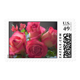 Pink Rose Bouquet Stamps