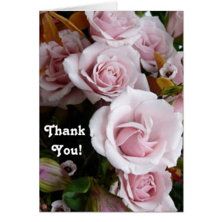 Pink Rose Bouquet-Thank You! Card