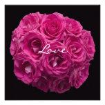 Pink Rose Bouquet Vow Renewal Invitation