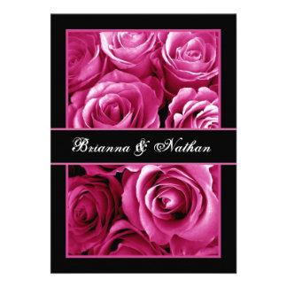 PINK Rose Bouquet Wedding Invitation