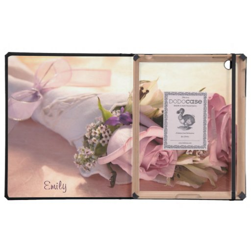 pink rose bouquet with ribbon iPad dodo case iPad Cases