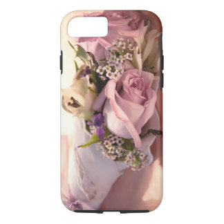 pink rose bouquet with ribbon iPhone 7 case