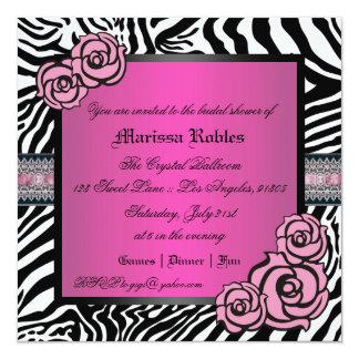 Pink Rose Bridal Shower Card