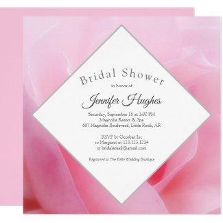 Pink Rose Bridal Shower Invitation