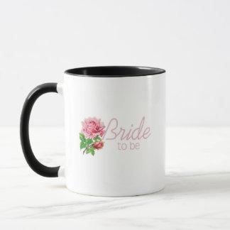 Pink Rose Bride to Be tshirts and Gifts Mug