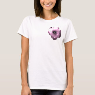 Pink rose brooch T-Shirt