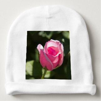 Pink Rose Bud Baby Beanie