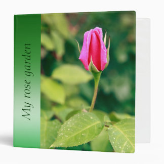 Pink rose bud binder