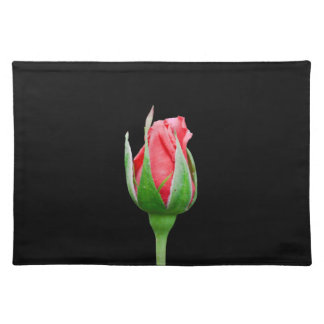 Pink rose bud cloth placemat