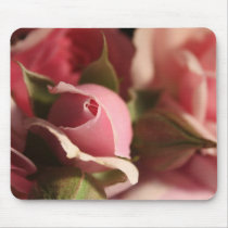 Pink Rose Bud Mouse Pad