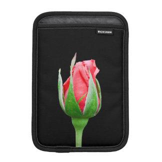 Pink rose bud sleeve for iPad mini