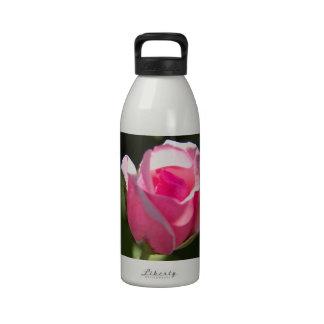 Pink Rose Bud Water Bottle