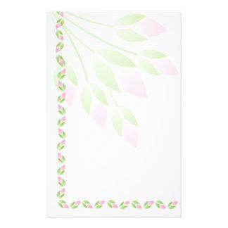 Pink Rose Buds Stationery-Floral Stationery