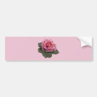 Pink Rose Bumper Sticker