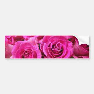 Pink Rose Bumper Sticker Car Bumper Sticker