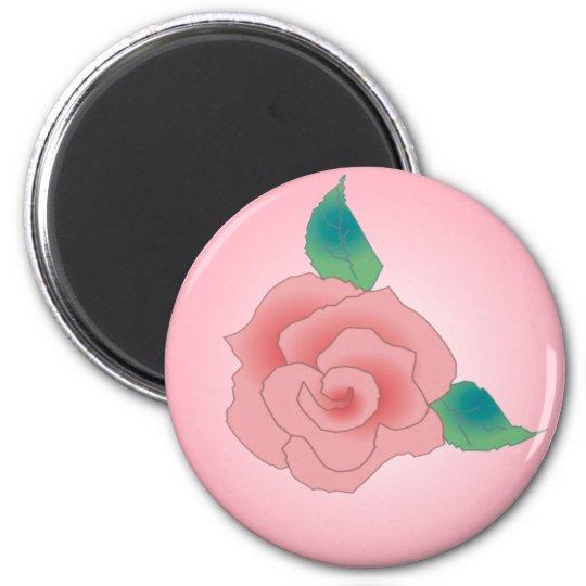 PINK ROSE by SHARON SHARPE Magnet