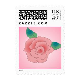 PINK ROSE by SHARON SHARPE Postage