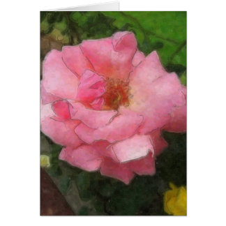 Pink Rose by the Cuautitlan Cathedral - Watercolor Card