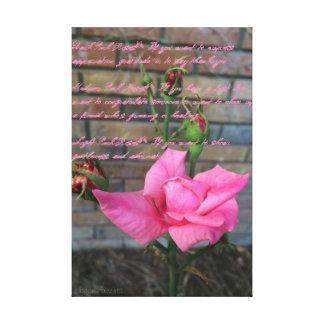 Pink Rose Canvas