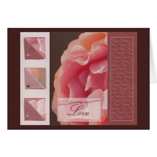 Pink Rose - card design