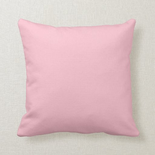 Pink Rose Carnation Solid Trend Color Background Throw Pillows