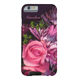 Pink Rose Cell Phone Cover! Add Name! Barely There iPhone 6 Case