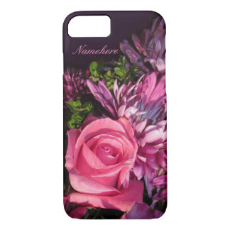 Pink Rose Cell Phone Cover! Add Name! iPhone 7 Case