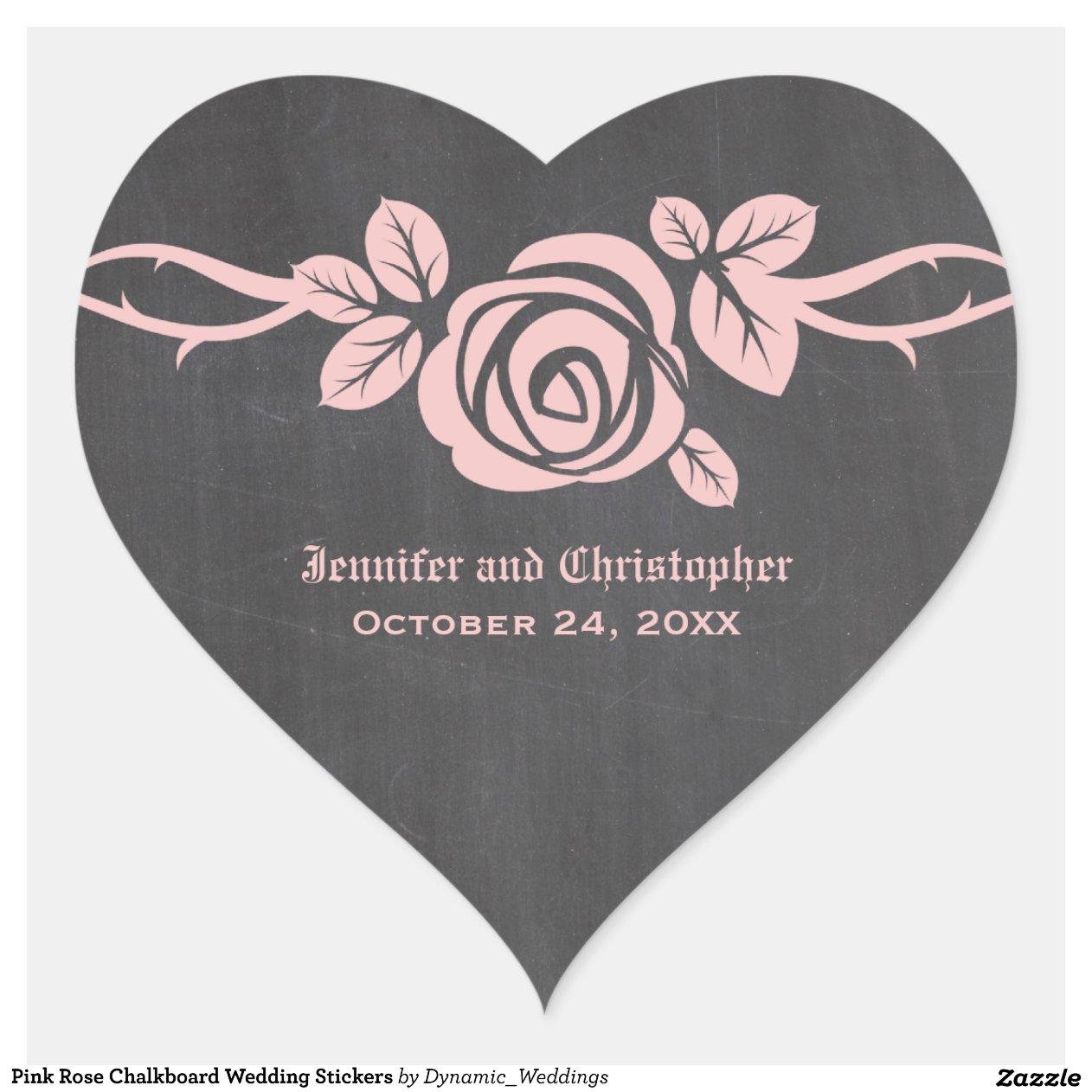 Pink Rose Chalkboard Wedding Modern Bride Clipart