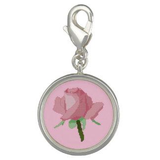 Pink Rose Charm Bracelets