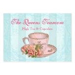 Pink Rose China Teacup Business Card