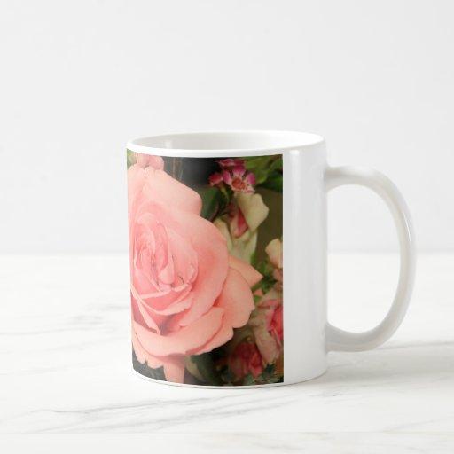 Pink Rose Classic White Coffee Mug