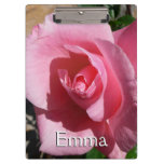 Pink Rose Clipboard