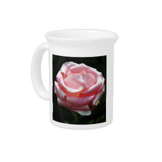 Pink Rose Close-up Beverage Pitcher