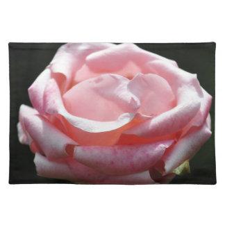 Pink Rose Close-up Cloth Placemat