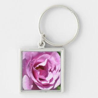 Pink Rose Close Up (macro) Keychain