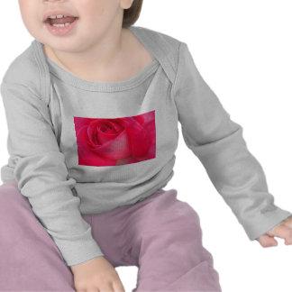 pink rose closeup tshirts