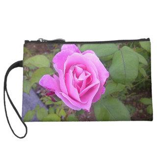 Pink Rose Clutch Wristlet