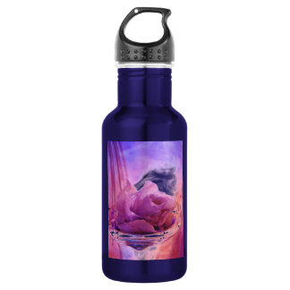 """Pink Rose"" Collection 18oz Water Bottle"