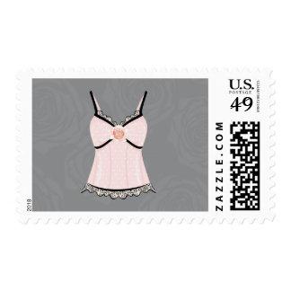 Pink Rose Corset Bachelorette Postage Stamp