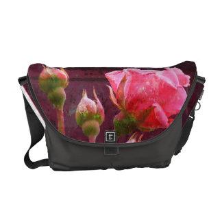 Pink Rose Courier Bag