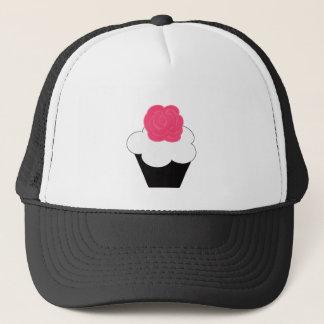 Pink Rose Cupecake Trucker Hat
