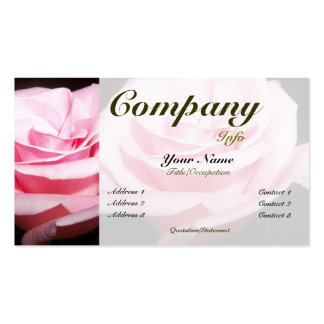 Pink Rose-custom color Double-Sided Standard Business Cards (Pack Of 100)