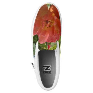 Pink Rose Custom Zipz Slip On Shoes