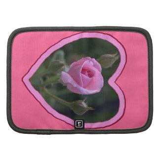 Pink Rose de tía Dorothy en corazón Planificadores
