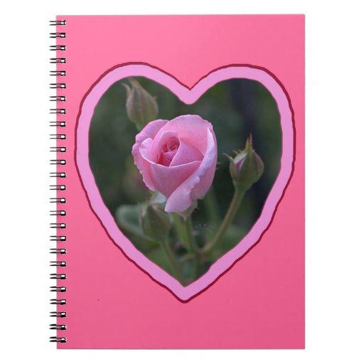 Pink Rose de tía Dorothy en corazón Libretas